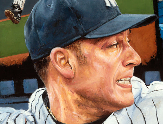 "derek jeter, ""one for the ages"" 30x45 orig, auto jeter"