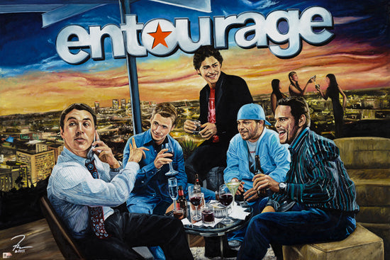 "entourage, ""a night to never forget"" 36x57 orig"