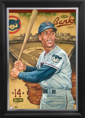 "ernie banks, ""the bank is open for business"" 30x45 orig, auto banks"