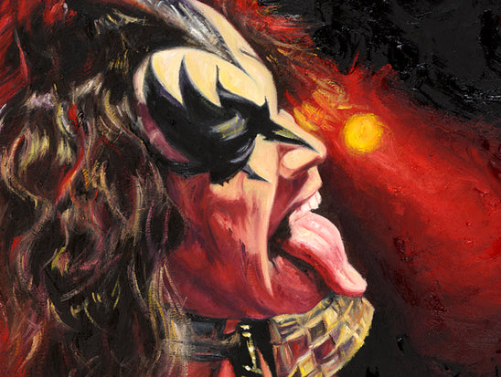 "gene simmons, ""electric"" 30x45 orig, auto simmons"