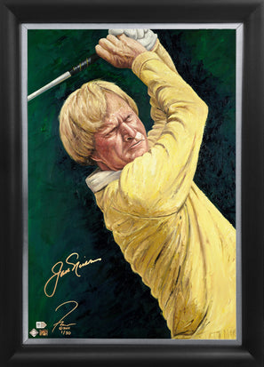 "jack nicklaus, ""staring down the flag"" 24x36 auto aroc, l.e. 30"