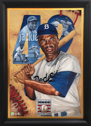 "jackie robinson, ""resilient"" 24x36 aroc, l.e. 99"
