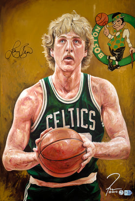 "larry bird, ""swish"" 30x45 orig, auto bird"