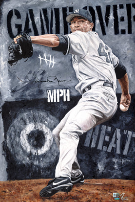 "mariano rivera, ""game over"" 24x36 orig, auto rivera"