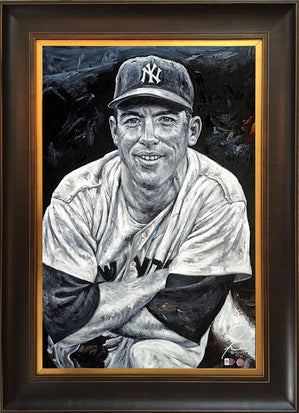 "mickey mantle, ""number 7"" 24x36 aroc, l.e. 99"