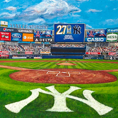 "ny yankees stadium, ""the house that george built"" 30x60 orig"