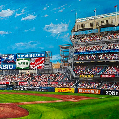 "ny yankees stadium, ""the house that george built"" 18x36 aroc, l.e. 99"