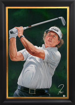 "phil mickelson, ""gentleman's game"" 30x45 orig"