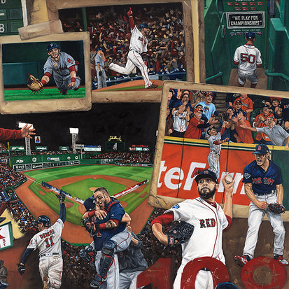 "red sox 2018 ws champs, ""damage done"" 24x36 aroc, l.e. 108"