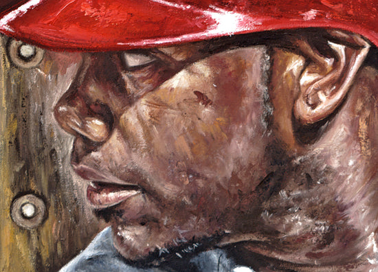 "ryan howard, ""blast off"" 30x45 orig, auto howard"