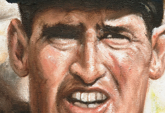 "ted williams, ""tough as nails"" 30x45 orig"