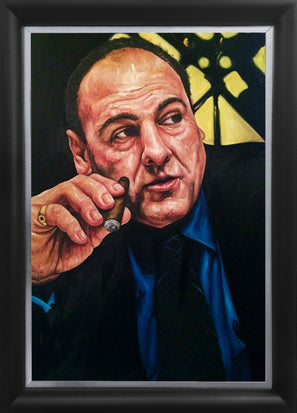 "tony soprano, ""waste management"" 30x45 orig"