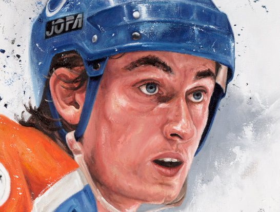 "wayne gretzky, ""immortal on ice"" 30x45 orig, auto gretzky"