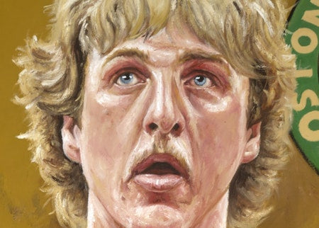 "larry bird, ""swish"" 24x36 auto aroc, l.e. 33"
