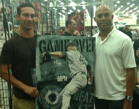 "mariano rivera, ""game over"" 24x36 auto aroc, l.e. 42"