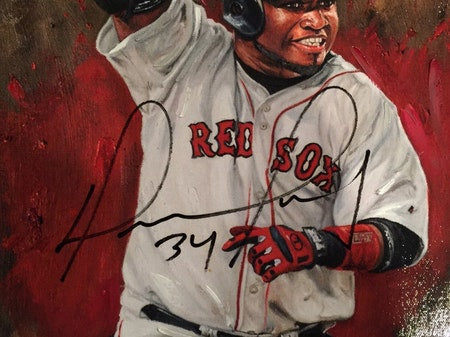 "red sox 2004 ws champs, ""why not us"" 30x45 multi-auto aroc, l.e. 20"