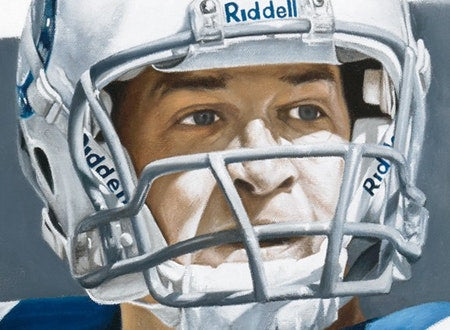 "peyton manning, ""the field general"" 30x45 orig, auto manning"