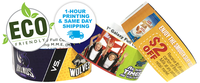 Custom Full-Color ECO Galaxy 1 inch wristbands 1-hour print