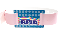 Snapped Wristbands with RFID Sliding Tag