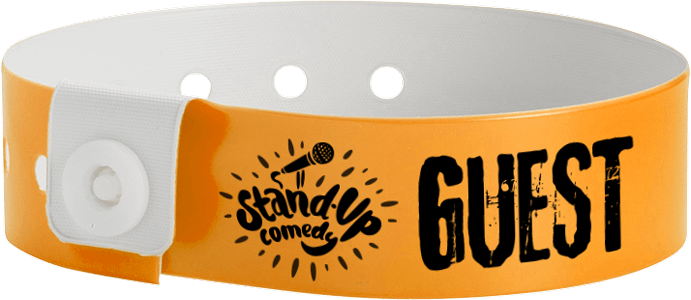 Custom 1-Colour Vinyl L-Shape Wristbands