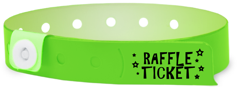 Custom 1-Colour Vinyl Edge Glow 1-stub Wristbands
