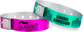 "Custom Plastic 3/4"" x 10"" Holographic One Colour Imprint Snapped Wristbands"