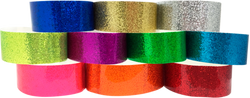 "Adhesive 1"" x 10"" Sparkle Solid wristbands"