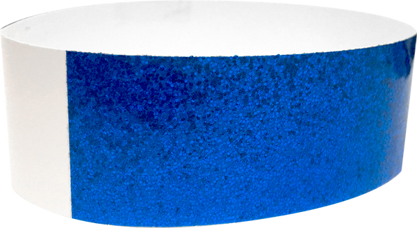 "An Adhesive 1"" X 10"" Sparkle Solid Blue wristband"