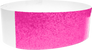 "An Adhesive 1"" X 10"" Sparkle Solid Neon Pink wristband"