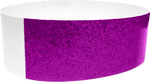 "An Adhesive 1"" X 10"" Sparkle Solid Purple wristband"