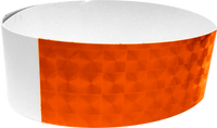 "An Adhesive 1"" X 10"" Techno Solid Neon Orange wristband"