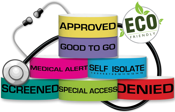 "3/4"" Medical Emergency Wristbands"