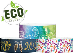 "3/4"" x 10"" ECO Galaxy Dynamic Full Colour Pattern Sheets of 10 Wristbands,  Same Day Print Free Shipping"