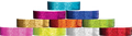 "Plastic Sparkle 3/4"" x 10"", Straight Wave, Snapped Wristbands"