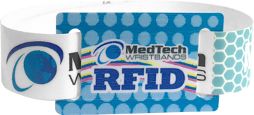 Custom Adhesive Wristbands with RFID Sliding Tag