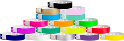 "Soft Comfort Plastic 3/4"" x 10"", L-Shape, Snapped Wristbands"