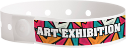 "Custom Soft Comfort Plastic 3/4"" x 10"" L-Shape, Full Colour Imprint Snapped Wristbands"