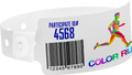 "Custom Soft Comfort Plastic 1"" x 10"" Wide Face, Full Colour Imprint Snapped Wristband"