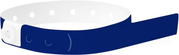 A Soft Comfort L-Shape Snapped Solid Navy Blue wristband