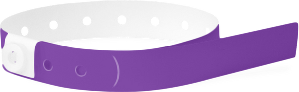 A Soft Comfort L-Shape Snapped Solid Purple wristband