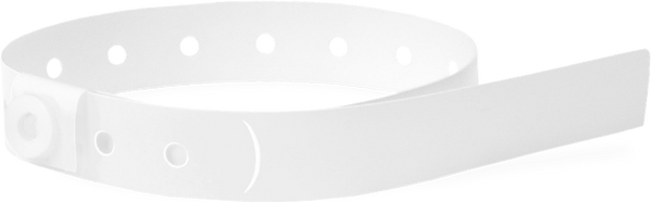 A Soft Comfort L-Shape Snapped Solid White wristband