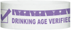 "A Tyvek® 1"" x 10""  Drinking Age Verified Purple wristband"