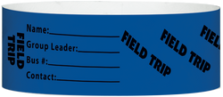 "Tyvek® 1"" x 10"" Field Trip pattern wristbands"
