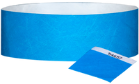 "A 1"" Tyvek® with stub solid Light Blue wristband"