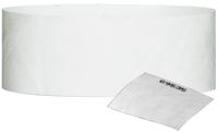 "A 1"" Tyvek® with stub solid White wristband"
