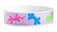 "Tyvek® 3/4"" x 10"" Sheeted Pattern Geckos pattern wristbands"