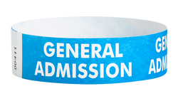 "Tyvek® 3/4"" x 10"" Sheeted Pattern General Admission pattern wristbands"