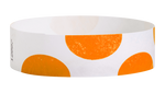"A Tyvek®  3/4"" x 10"" Sheeted Pattern Half Circles Orange wristband"