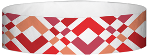 "A Tyvek® 3/4"" X 10"" Argyle Red wristband"