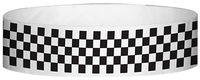 "A Tyvek® 3/4"" X 10"" Checkerboard Black wristband"